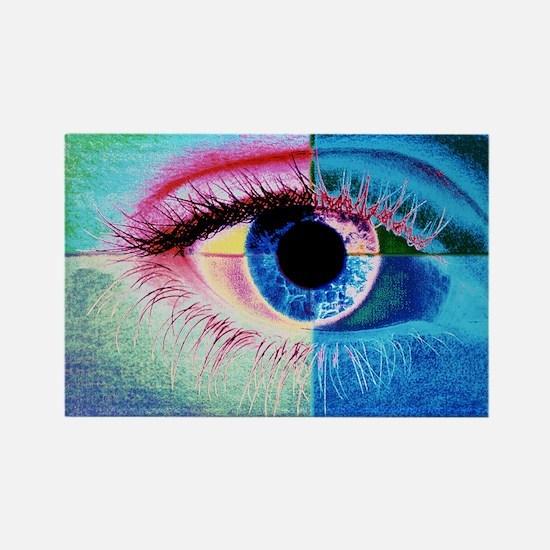 an eye - Rectangle Magnet
