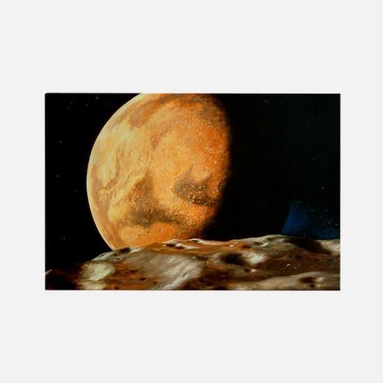 Mars seen from Deimos - Rectangle Magnet