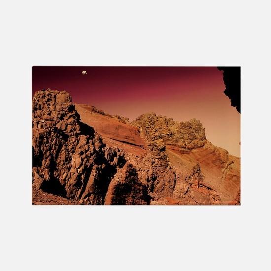 Martian landscape - Rectangle Magnet