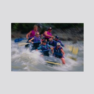 Whitewater rafting - Rectangle Magnet