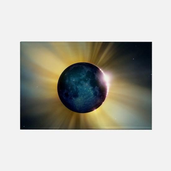 Total solar eclipse - Rectangle Magnet