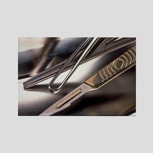 a metal bowl - Rectangle Magnet