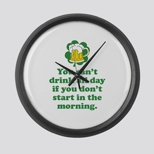Drink All Day Large Wall Clock