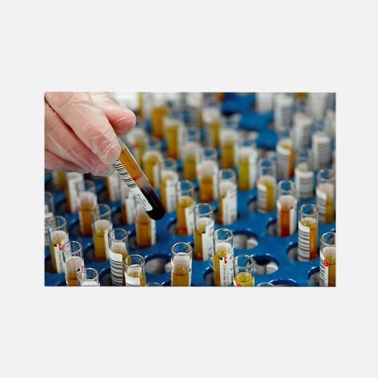Blood samples - Rectangle Magnet