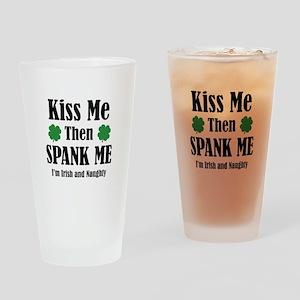 Irish And Naughty Drinking Glass
