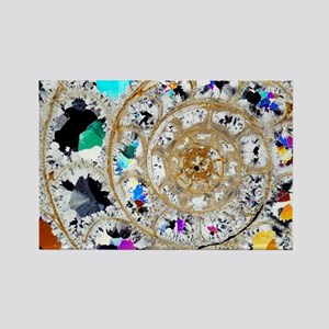 Ammonite fossil, thin section - Rectangle Magnet