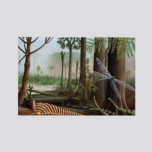 Carboniferous insects, artwork - Rectangle Magnet