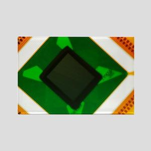Computer microchip - Rectangle Magnet