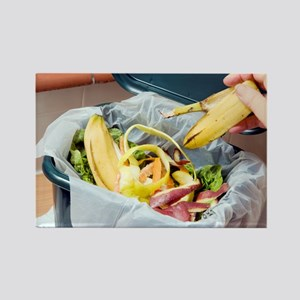 Composting kitchen waste - Rectangle Magnet