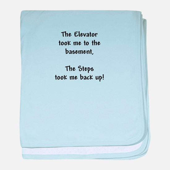 Recovery 12 Step Slogan baby blanket