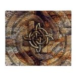 Celtic Rock Knot Throw Blanket