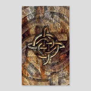 Celtic Rock Knot 3'x5' Area Rug