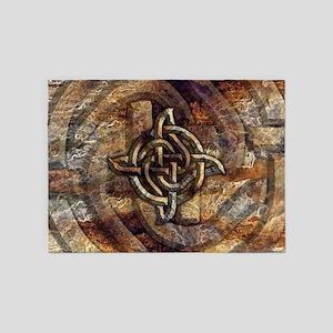 Celtic Rock Knot 5'x7'Area Rug