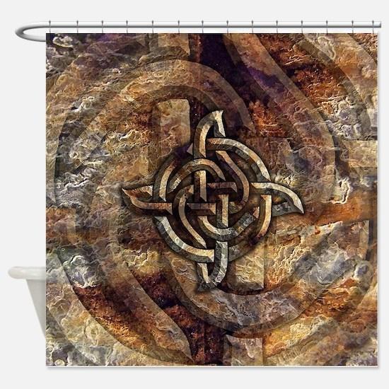 Celtic Rock Knot Shower Curtain