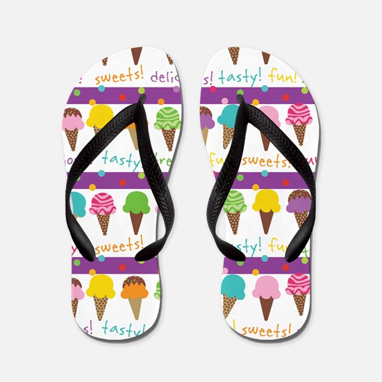 Cute Ice Cream Cone Flip Flops