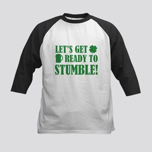 Let's get ready to stumble! Kids Baseball Jersey