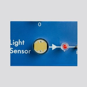 Light dependent resistor - Rectangle Magnet