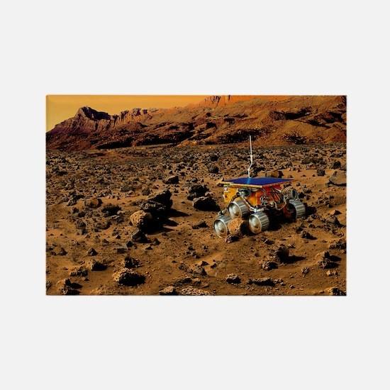 Mars exploration - Rectangle Magnet