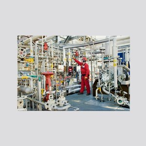 Oil refinery worker - Rectangle Magnet