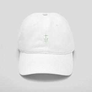 Pretty green christian cross 2 L y Baseball Cap
