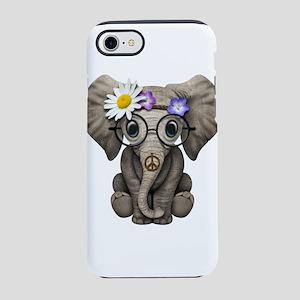 Cute Baby Elephant Hippie iPhone 7 Tough Case