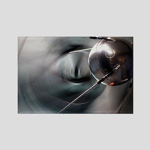Sputnik 1 satellite - Rectangle Magnet
