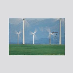 Wind turbines - Rectangle Magnet