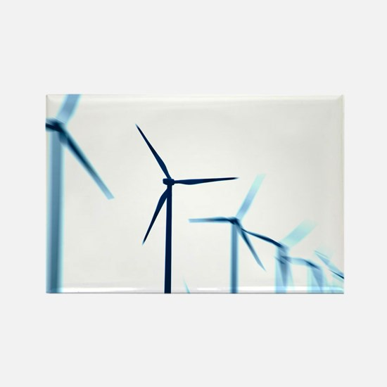 Wind turbines - Rectangle Magnet
