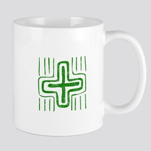 Pretty green christian cross 2 U E Mug