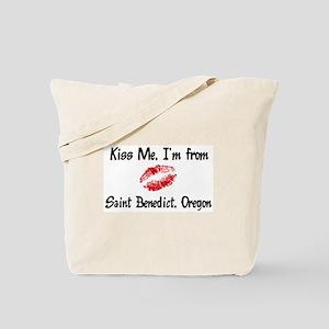 Saint Benedict - Kiss Me Tote Bag