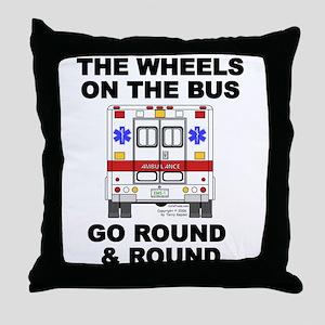 Ambulance Wheels Go Round Throw Pillow