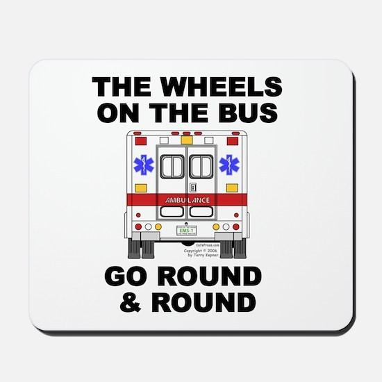 Ambulance Wheels Go Round Mousepad