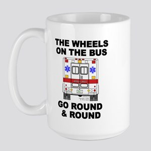 Ambulance Wheels Go Round Large Mug
