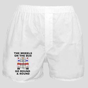 Ambulance Wheels Go Round Boxer Shorts