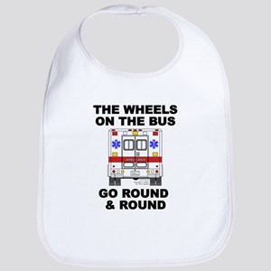 Ambulance Wheels Go Round Bib
