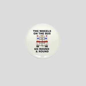 Ambulance Wheels Go Round Mini Button