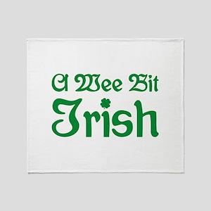 A Wee Bit Irish Throw Blanket
