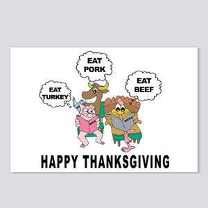 Funny Happy Thankgiving Postcards (Package of 8)
