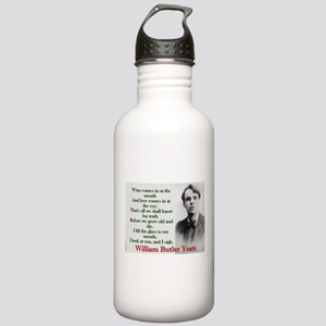 Wine Comes In At The Mouth - Yeats Water Bottle