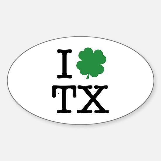 I Shamrock TX Sticker (Oval)