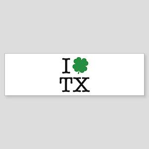 I Shamrock TX Sticker (Bumper)
