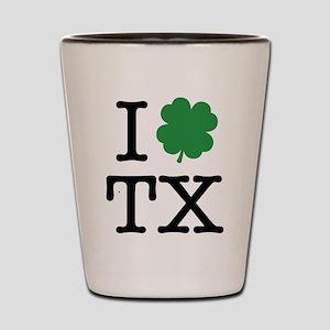 I Shamrock TX Shot Glass