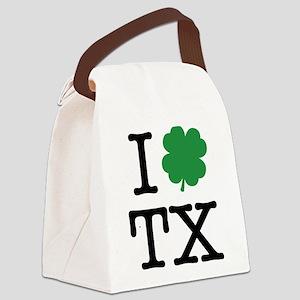 I Shamrock TX Canvas Lunch Bag