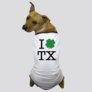 I Shamrock TX Dog T-Shirt