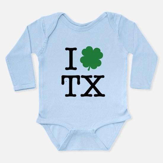 I Shamrock TX Long Sleeve Infant Bodysuit