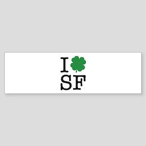 I Shamrock SF Sticker (Bumper)