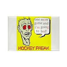 Hockey Freak Rectangle Magnet
