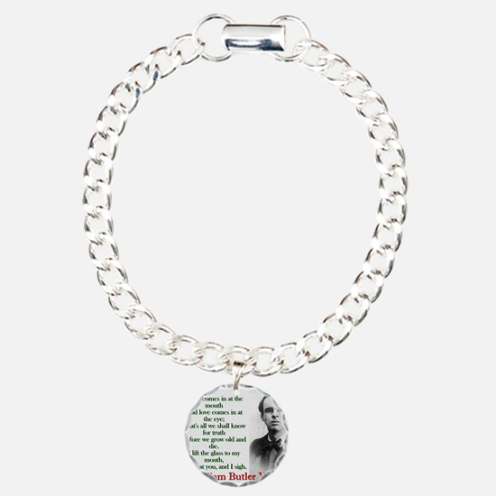 Wine Comes In At The Mouth - Yeats Charm Bracelet,