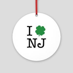 I Shamrock NJ Ornament (Round)