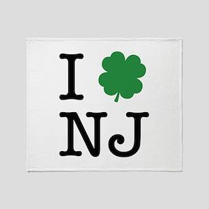 I Shamrock NJ Throw Blanket